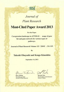 Most-Cited Paper Award 2013